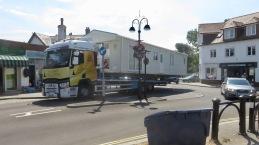 Static caravan on corner