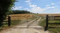 Field and gate, Longford Farms Ltd