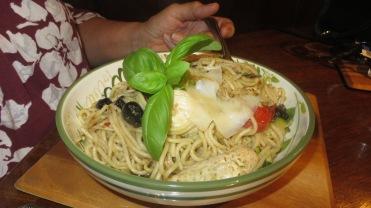 Italian Chicken with spaghetti