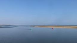 Sandbank, buoys, Isle of Wight
