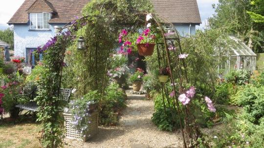 Landscape garden view with Gazbo Path