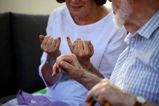 Hands - nail polish display