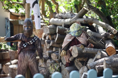 Scarecrows - Chewbacca and Yoda