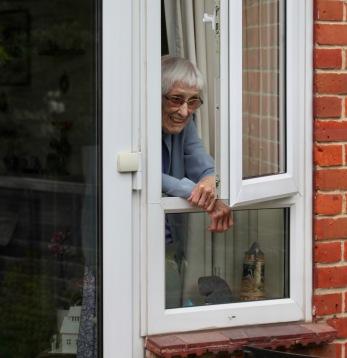 Mum at window
