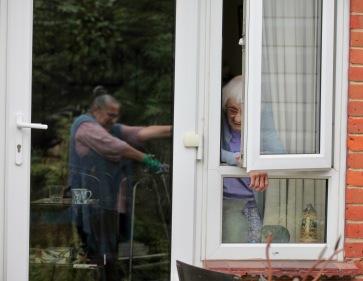 Mum at window, Jacki'e reflection
