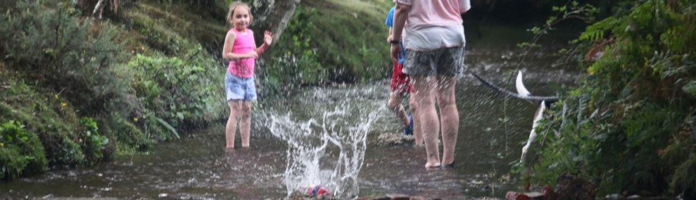 Splash from tossed ball