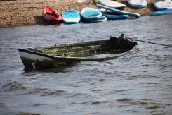 Boat waterlogged
