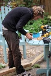 Aaron checking screws
