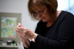 Elizabeth threading needle