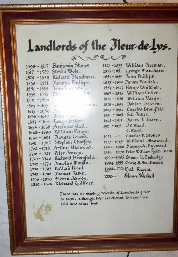 Landlords of the Fleur-de-Lys