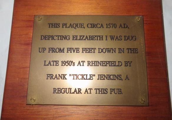 Plaque of Elizabeth I