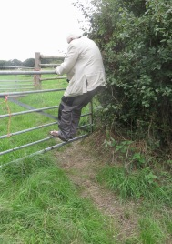 Derrick descending five barred gate
