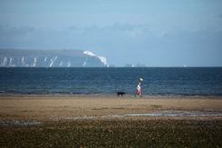 Dog walker, Isle of Wight, The Needles