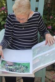 Pauline examining Garden Album
