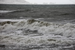 Waves, Isle of Wight, The Needles, lighthouse