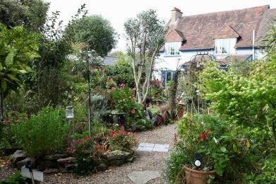 Garden landscape with Gazebo Path