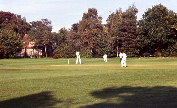 Michael batting v. Trinity