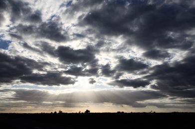 Cloudscape with Jesus beams