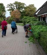 Jackie, Elizabeth, Mum and gardener