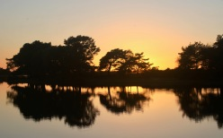 Sunset over Hatchet Pond