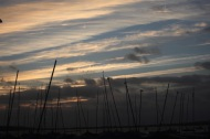 Cloudscape with masts