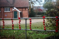 Knitted poppies