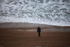 Man watching sea